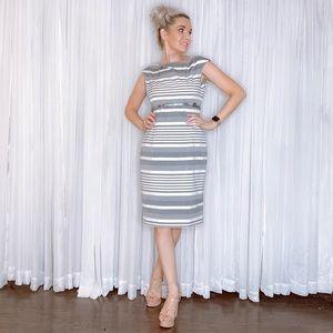 Calvin Klein Dresses - Calvin Klein Striped Business Professional Dress